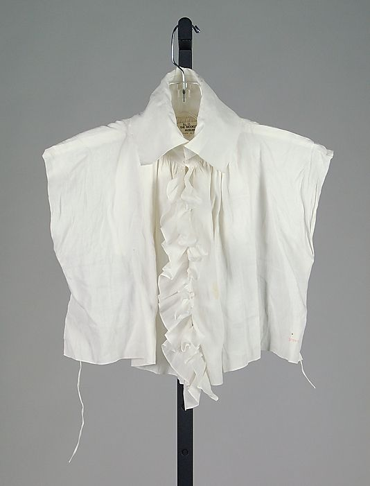 Chemisette Date: 1790–1805 Culture: British Medium: Linen Credit Line: Brooklyn Museum Costume Collection at The Metropolitan Museum of Art, Gift of the Brooklyn Museum, 2009; Augustus Graham School of Design Fund, 1976