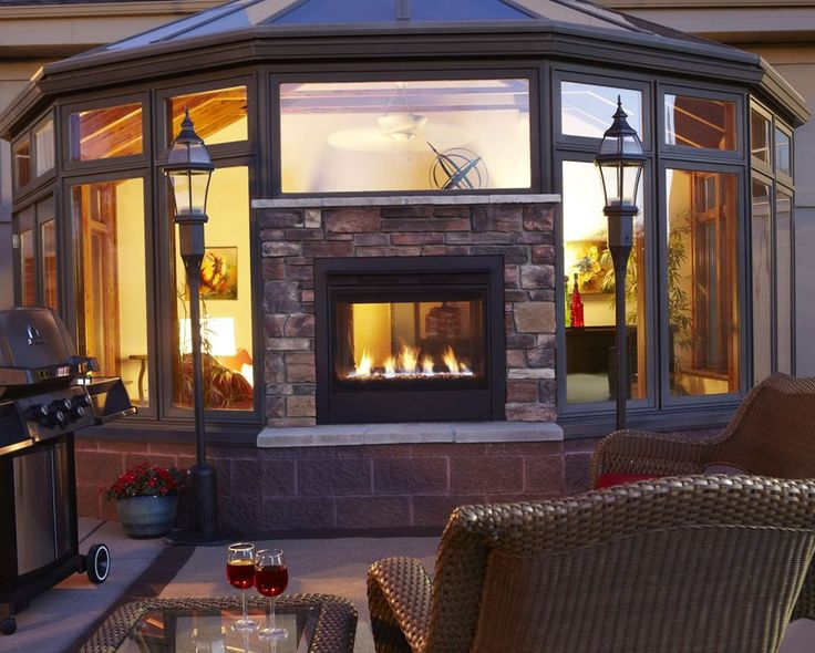 best 25 indoor outdoor fireplaces ideas on pinterest
