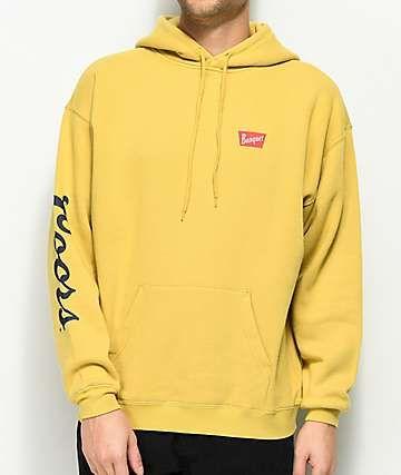 a35162d348 Brixton x Coors Banquet Buff Yellow Fleece Hoodie | shopping ...