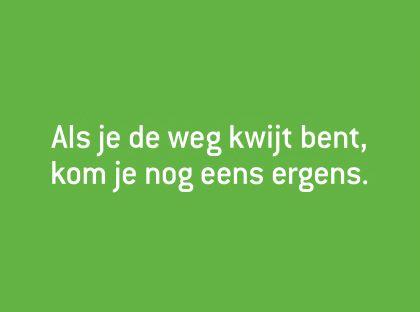 Als je de weg kwijt bent... via positiefjes.nl