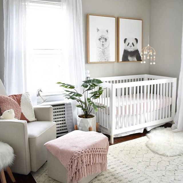 Loving This Light Bright Neutral Nursery With Touches Of Pink