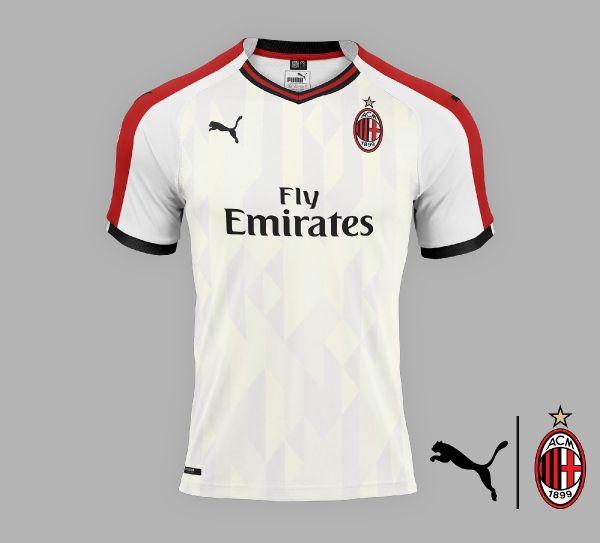 Ac Milan Away Concept Ac Milan Ac Milan Kit Fantasy Football Shirt