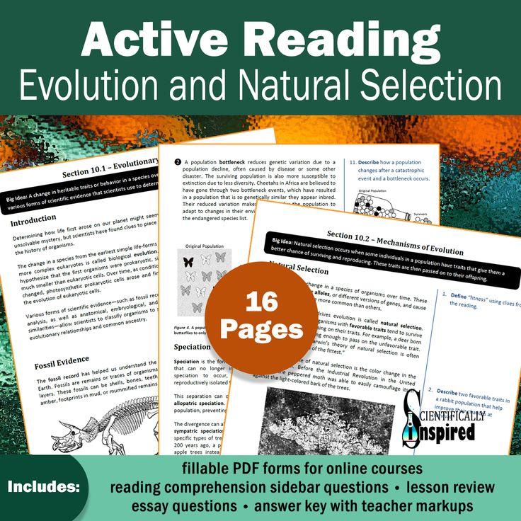 Active Reading BUNDLE Evolution & Nat. Sel Textbook