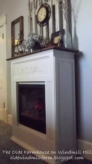 makeover of an electric fireplace heater