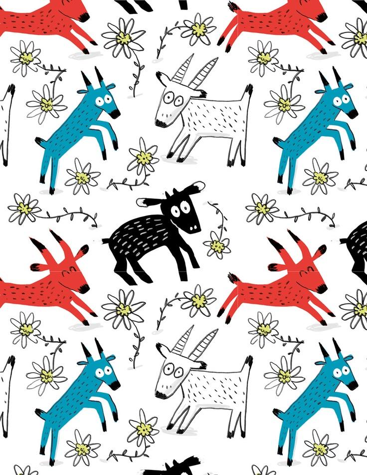 Elise Gravel • Goat pattern