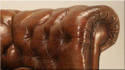 chesterfield stílusú vintage bútor