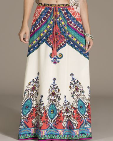 High Waisted Maxi Skirt - cream – Bohemian Tapestry