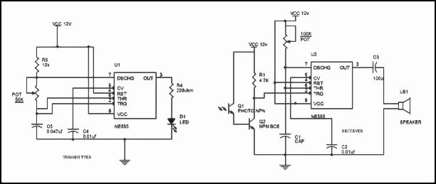 gas detector schematics sensor a top and sensor b bottom