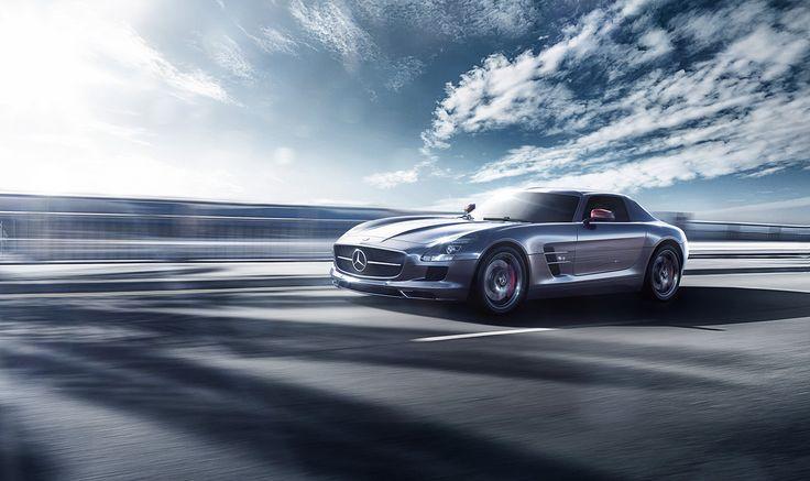 Mercedes Benz Sls On Behance Car Production Pinterest