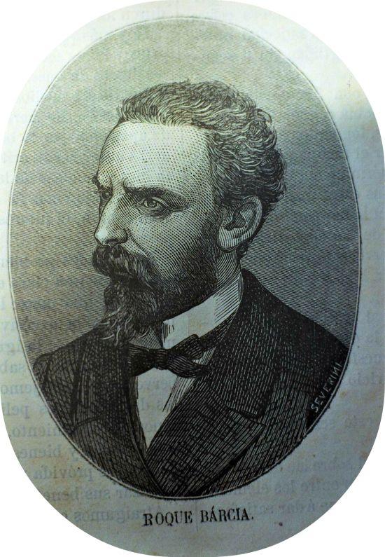 Personajes de Huelva: Roque Barcia : (1821 – 1885).  (La Redondela, Huelva, 23 de abril de 1823 – Madrid, 3 de agosto de 1885) fue un filósofo, lexicógrafo y político republicano perteneciente al Partido Demócrata español y luego, durante el Sexenio Democrático (1868-1874), al Partido Republicano Federal.