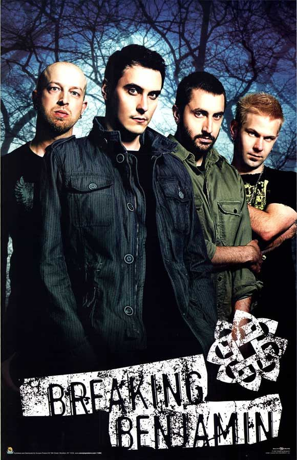 Breaking Benjamin 22x34 Music Poster (2007)
