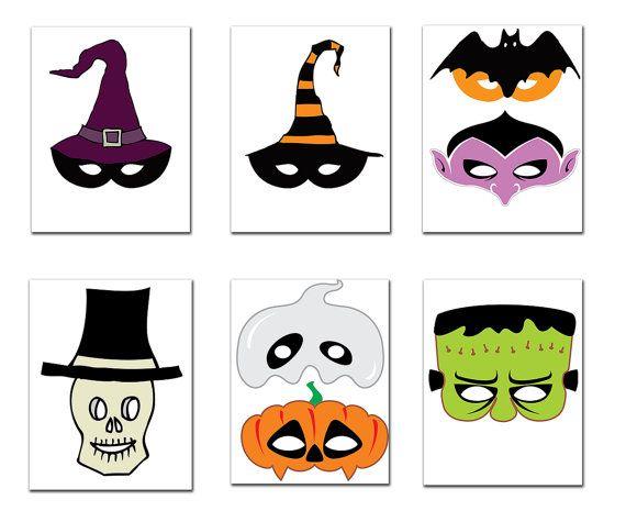 Halloween-Party Foto Stand Requisiten: HALLOWEEN-Masken printable Masken Foto Stand Requisiten Kinder Masken Requisiten Halloween Photobooth Partei Requisiten  Dieses Angebot ist für eine druckbare Foto Prop 13 Spaß gesetzt Requisiten enthalten und Sie können ausdrucken so oft Sie wollen.   Du erhältst Folgendes: . • 10 Seite druckbare hochauflösende PDF-Datei, die enthält 13 Requisiten! • 10JPG Dateien Datei, die enthält 13 Requisiten! • Größe: 8.5 x 11  • 9 X Halloweenmasken Größe 8 • 4 x…