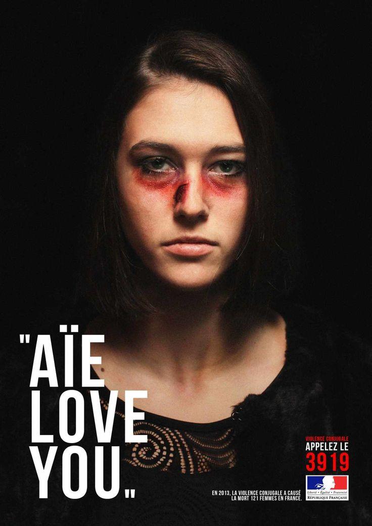 Publicités chocs : les violences faites aux femmes   http://blog.shanegraphique.com/violence-contre-les-femmes/