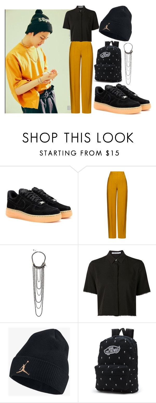 """""""Untitled #117"""" by belabelistic ❤ liked on Polyvore featuring NIKE, ADAM, French Connection, Alexander Wang, Vans, mark and nct"""