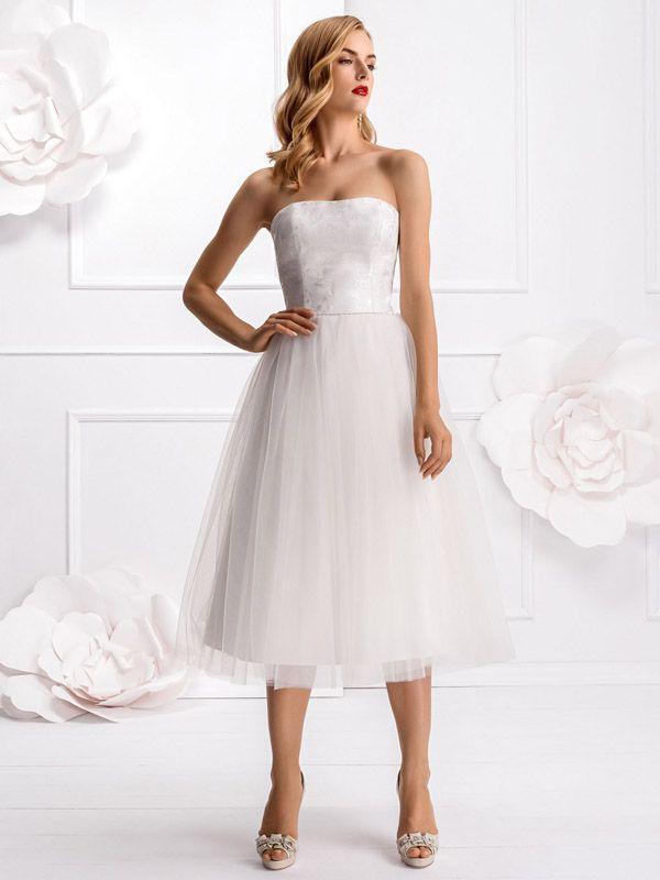 8 besten Brautkleid Bilder auf Pinterest | Hochzeitskleider, Kurze ...