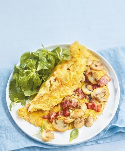 Speck-Pilz-Omelett Rezept - [ESSEN UND TRINKEN]
