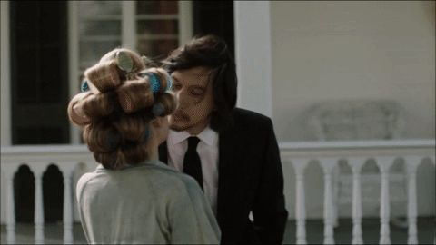 Pin for Later: 33 of TV's Sexiest, Sweetest, and Spine-Tingliest Kisses in 2016 Girls Jessa (Jemima Kirke) and Adam (Adam Driver) try to keep their relationship under wraps at first.
