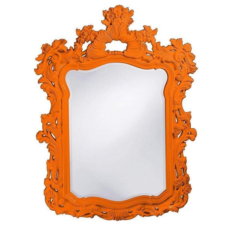 "Howard Elliott Turner Orange Mirror 42"" x 56"" x 1"""