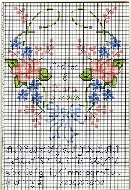 portafedi cuore fiori (2) - magiedifilo.it punto croce uncinetto schemi gratis hobby creativi