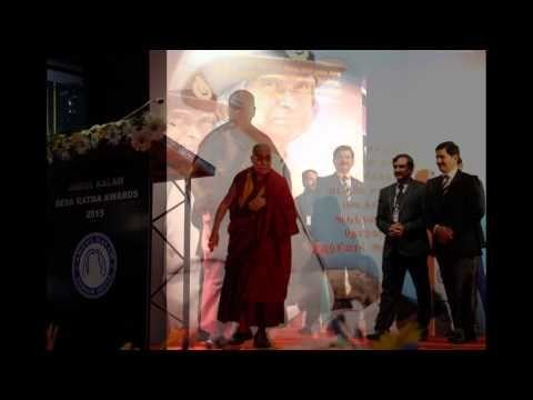 Gp Capt R Vijayakumar ED MMA with his holiness Dalai lama ABDUL KALAM AW...
