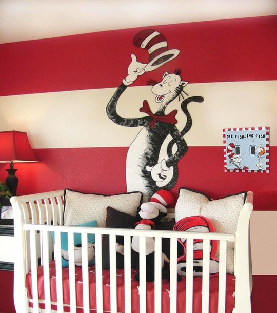 1000 images about baby shower on pinterest for Dr seuss wall mural