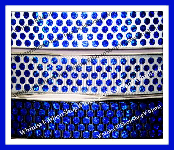 New 1 2 3 4 5 yards 7/8 Wars Police LASER Blue by WhimsyRibbonShop