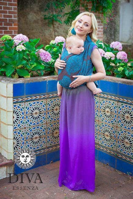 Babywearing in a woven baby sling