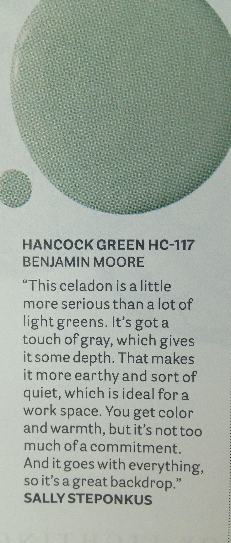Benjamin Moore : Hancock green HC 117