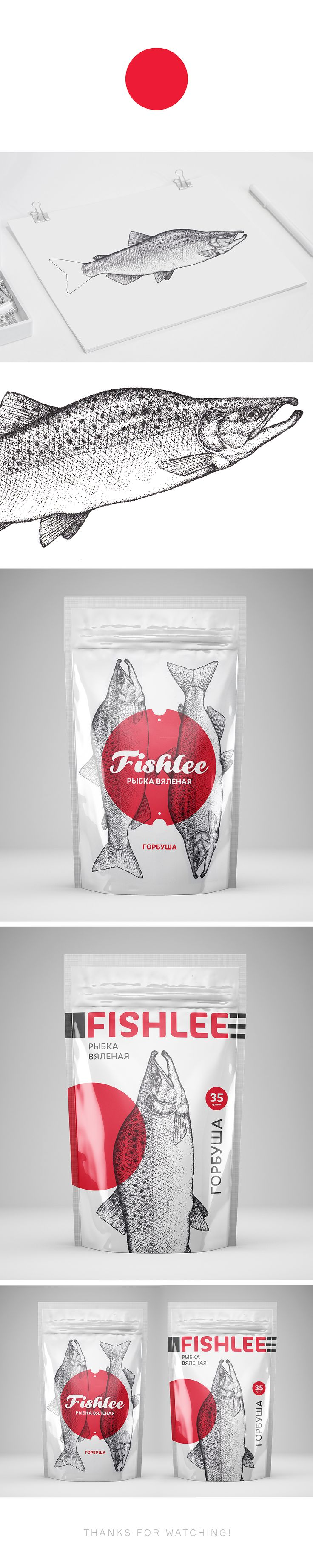 Packaging for fish «Fishlee» on Behance
