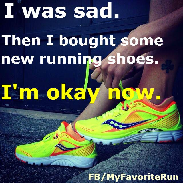 This was me last week, always a great feeling buying new running sneakers