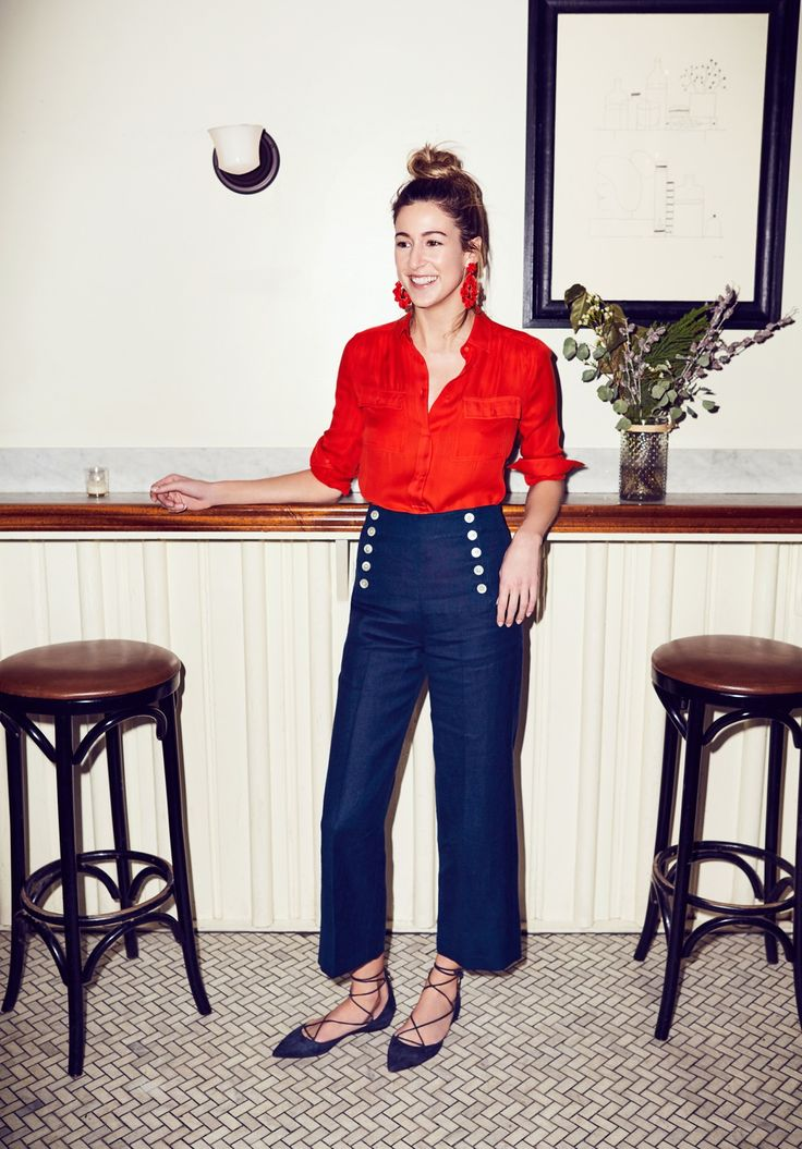 Our in-house marketing maven Jenny shows us 3 ways she's wearing our sailor pant on dry land (in Greenpoint, BK). See more on jcrew.com/blog.