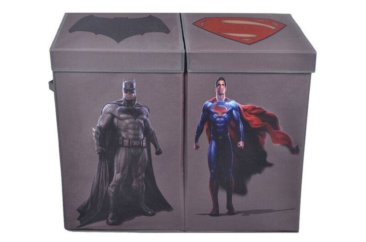 Batman vs. Superman Character Folding Double Laundry Bin