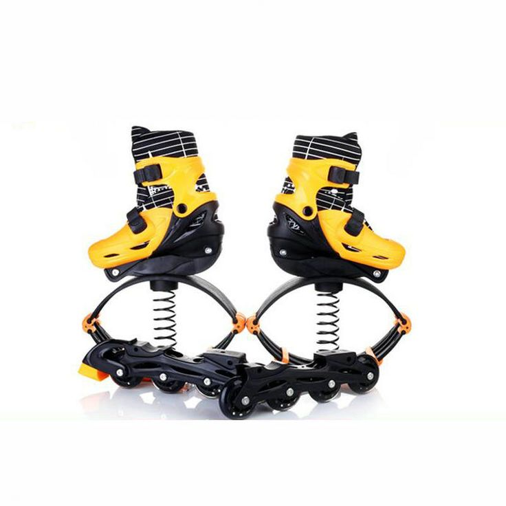 2 in 1 Fitness Jump Shoes Roller Skates Jumping Space Bounce Shoes 30-70KG