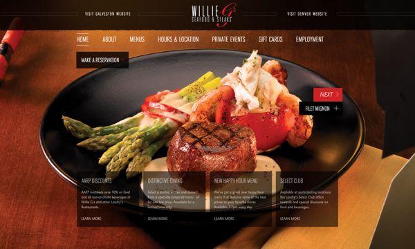 Willie Gs Restaurant Website by Daren Guillory, via Behance ...