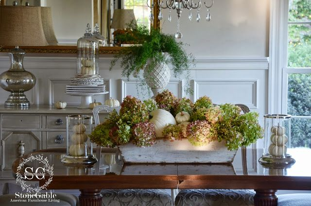 fall centerpieces for dining room table | FALL HOME TOUR AND A $1,500 GIVEAWAY | Pumpkins ...