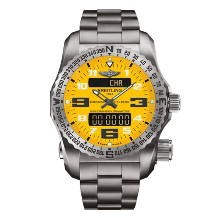 Be bold with this Breitling Emergency Professional watch.