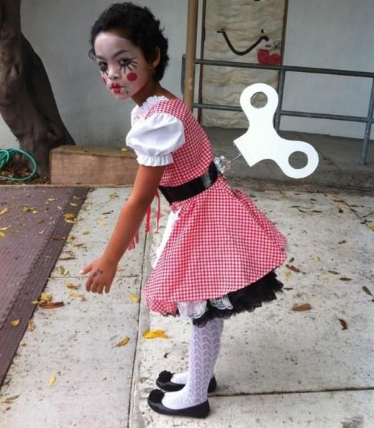 Wind Up Doll Costume For Kids