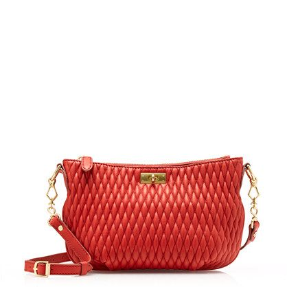 Love the texture on this red purse