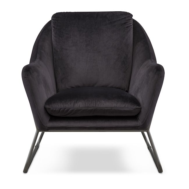 449 Living Room Furniture Willow Accent Chair Black Black