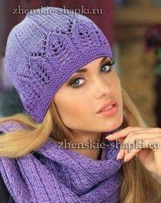 красивая вязаная шапка спицами шапки Pinterest Knitting