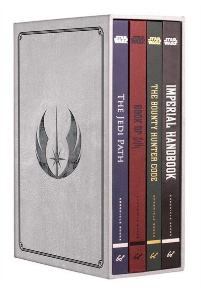 "'Star Wars: Secrets Of The Galaxy Deluxe Box Set' - - By: Daniel Wallace.  ""The secrets of the Star Wars galaxy have been recorded in a series of handbooks and guides created and kept hidden by the Jedi Order, the Sith, the Bounty Hunters Guild, and the Empire itself. Set in-world, richly illustrated, and annotated by characters such as Luke Skywalker, Leia Organa, Boba Fett, Yoda, and Darth Vader, each volume expands Star Wars mythology."""
