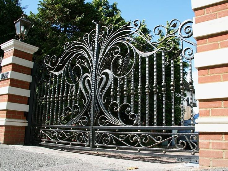 Such A Beautiful Iron Gate From NVF. Perfect For Any Driveway