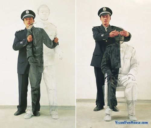 Invisible Man Body Paint
