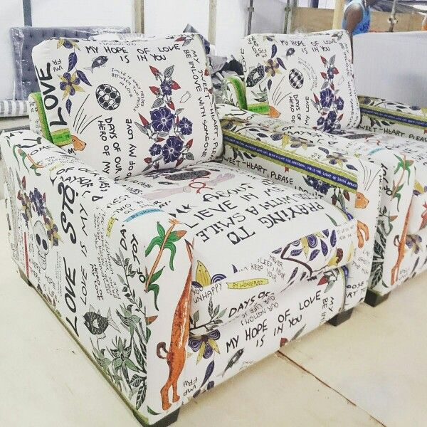 Bespoke chairs. Ardmore fabric.
