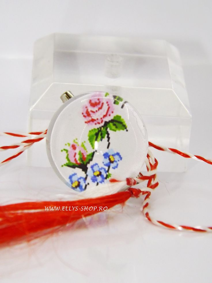 Martisor traditional, motive populare romanesti florale, model 2017