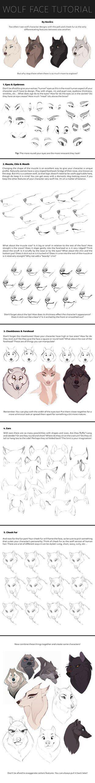Wolf Face Tutorial by Naviira on DeviantArt