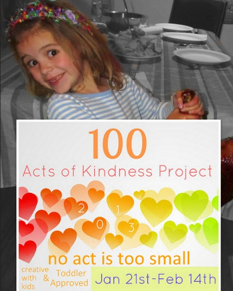 Learn simple ways you can spread kindness with your kids during the 100 Acts of Kindness Challenge.