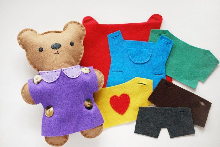 Dress Up Bear Teddy Bear Sewing Pattern Felt Diy Diy