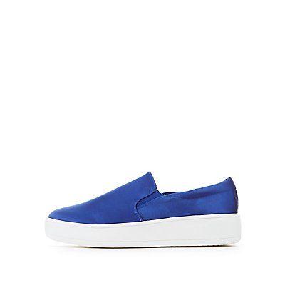 Soda Satin Slip-On Platform Sneakers