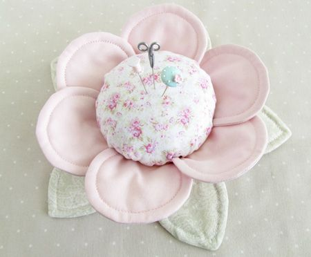 """With Fabric & Thread"" Pin Cushion Buttercups - Pretty by Hand - Pretty By Hand"